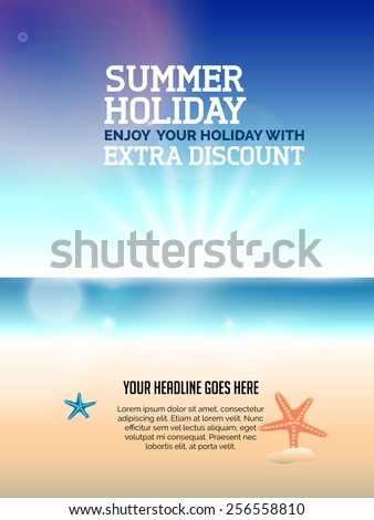 beautiful summer holiday flyer