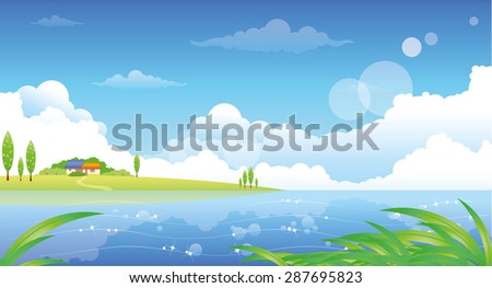 beautiful summer landscape with