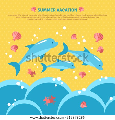 beautiful summer seaside view