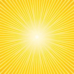 Beautiful summer sunburst. Vector background.