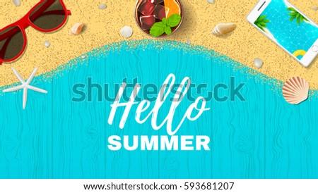 beautiful summer vacation web