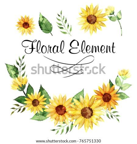Beautiful sunflower background.