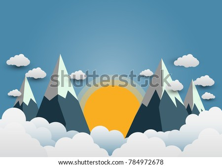 beautiful suns and mountains
