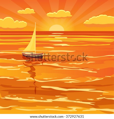 beautiful sunset seascape