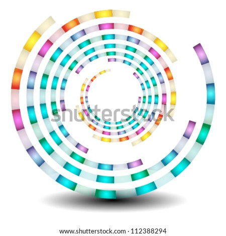 beautiful swirl icon & shape, logo