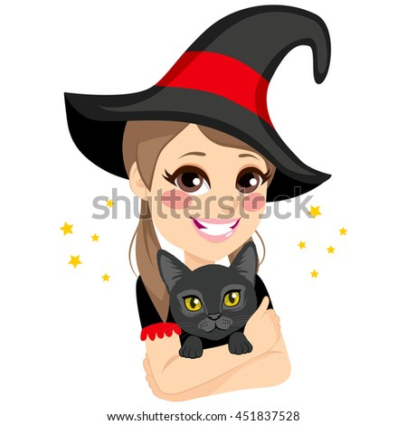 beautiful teenage witch with