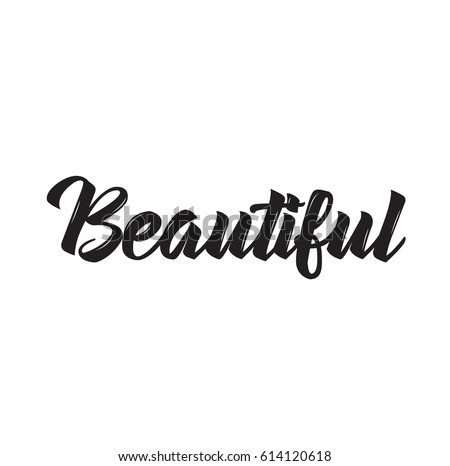 Beautiful text design vector calligraphy typography poster usable as background