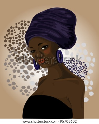 Beautiful traditional african american woman