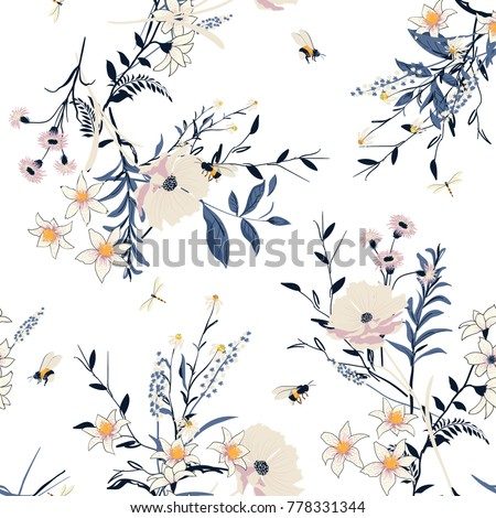 beautiful trendy  vector floral