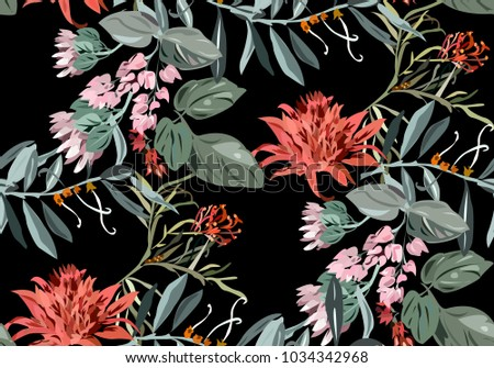 beautiful tropical pattern with