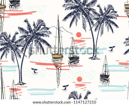 beautiful tropical vector