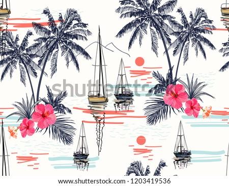 beautiful tropical vector