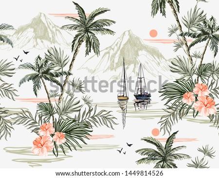 beautiful tropical vintage