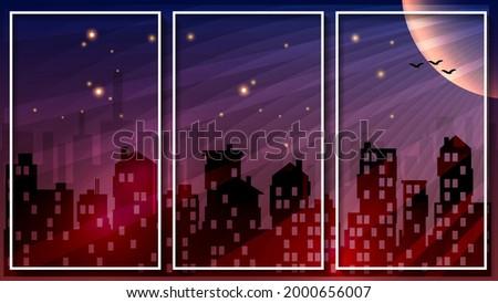 beautiful two tone triptych