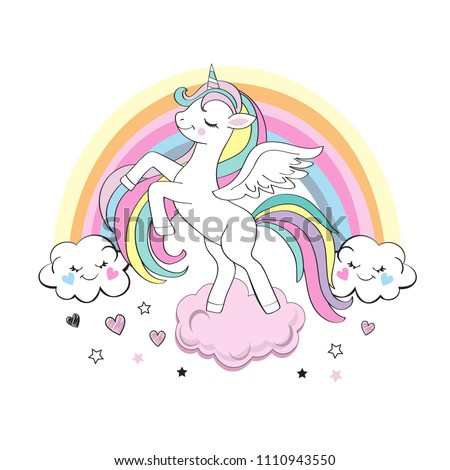 beautiful unicorn with a
