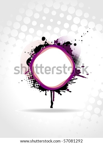 Beautiful vector abstract text frame panel with grunge.
