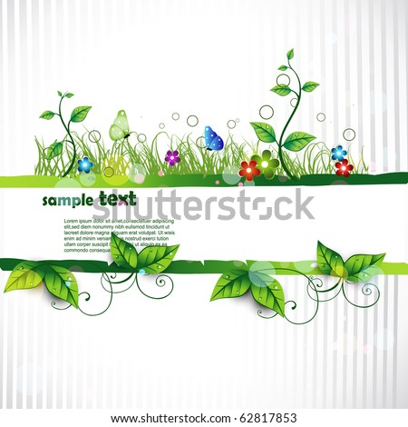 beautiful vector artistic nature background - stock vector