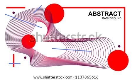 Beautiful vector background.Abstract vector background wave.Design elements. #1137865616