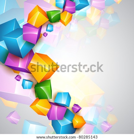 beautiful vector colorful cube background template