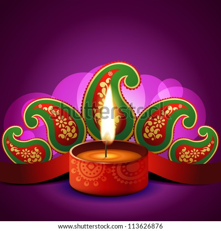 beautiful vector diwali diya background