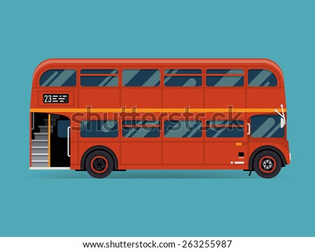 beautiful vector double decker...