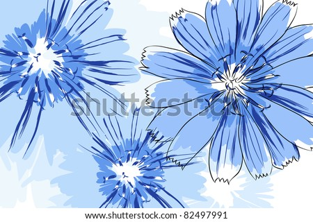 beautiful vector flowers on
