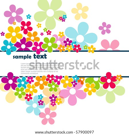 beautiful vector flowers with space for your text