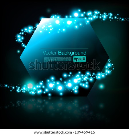 Beautiful vector frame with shimmering vortex