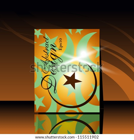 Beautiful vector illustration of flayer design in religious Ed background with moon and shiny presentation.