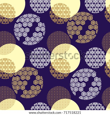 Beautiful vector japanese seamless  pattern with japanese,chinese elements. Vector unique seamless asian texture.For printing on packaging, textiles, paper, manufacturing, wallpapers, scrapbooking.