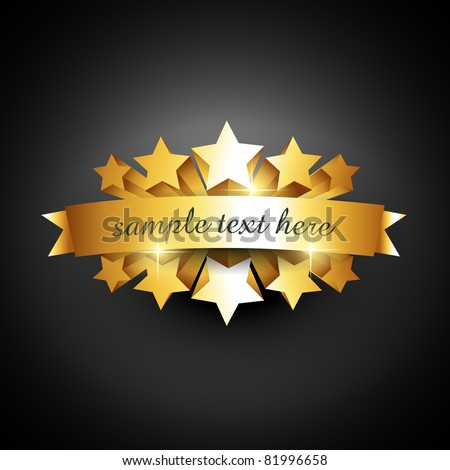 beautiful vector label sign with space for your text - stock vector