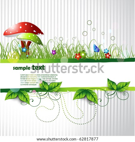 beautiful vector landscape design with space for your text