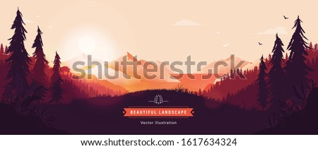 beautiful vector landscape