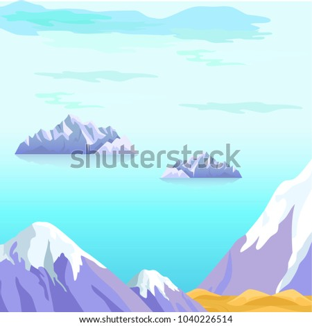 beautiful vector landscape with