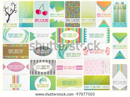 Beautiful vector set with various business cards