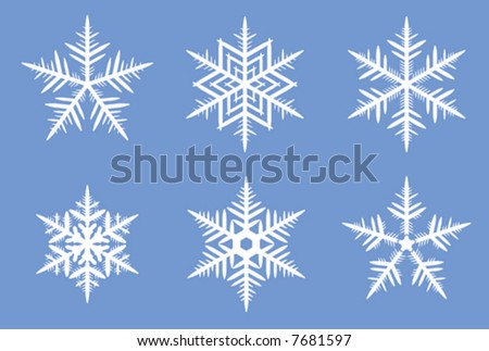 Beautiful vector snowflakes. See also hi-res JPEG version in my portfolio.