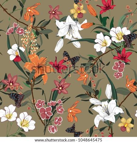 beautiful vintage floral...