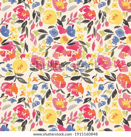 Beautiful vintage Floral pattern in the many kind of flowers. Tropical botanical Motifs scattered random. Seamless vector texture.fashion prints. Printing with in hand drawn style on pink flower