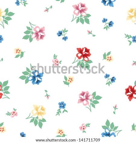 Beautiful vintage floral pattern, vector design