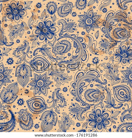 Beautiful vintage floral seamless for your business