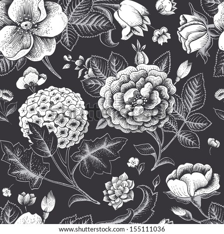 Vintage Flowers Texture Free Vector Download 21254