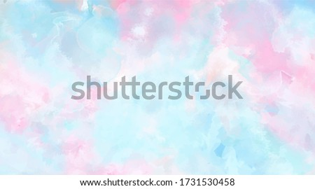 Beautiful wallpaper HD splash watercolor multicolor blue pink, pastel color, abstract texture background.  For google slides/lettering background. Rainbow color, sky, brush strokes wash, Galaxy style.