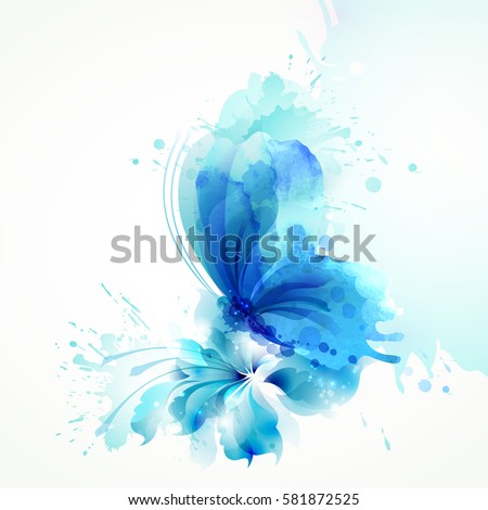 beautiful watercolor abstract