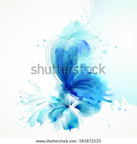 beautiful watercolor abstract