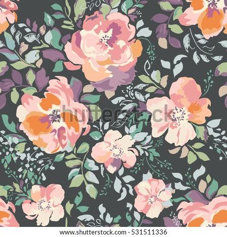 beautiful watercolor roses