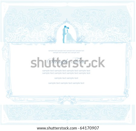 Beautiful Wedding Card Stock Vector Illustration 64170907 Shutterstock