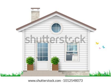 beautiful white little house