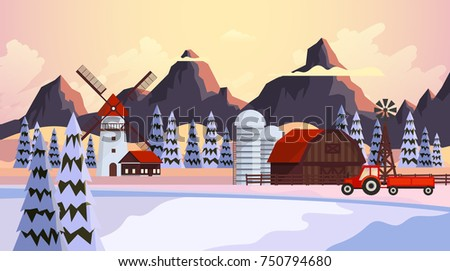 beautiful winter vector