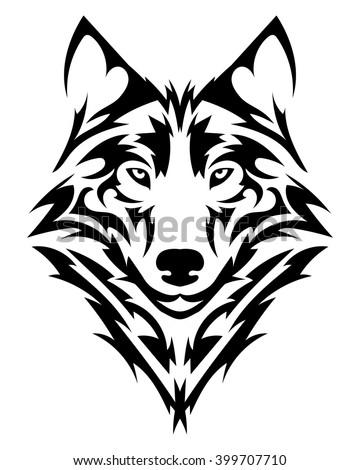 Royalty Free Wolf Tribal Tattoo Style 92215210 Stock Photo Avopix Com