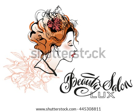 Beautiful Woman Design Element Good For Beauty Salon Logo And